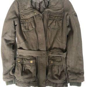 Military-inspired short coat, Sz 4